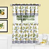 Achim Home Furnishings LDTV36YL12 Lemon Drop Tier and Valance Window Curtain Set, 58' x 36', Yellow