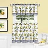 Achim Home Furnishings, Yellow Lemon Drop Tier and Valance Window Curtain Set, 58' x 24'