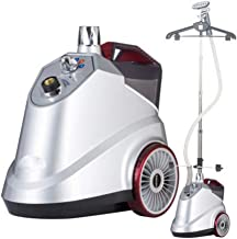 JTGYA Standing Straight Steam Ironing Machine,Full Size Garment and Fabric Steamer with Rotating Hanger (Color : Silver)