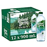 Poland Spring Origin, 100% Natural Spring Water, 900mL Recycled Plastic Bottle...