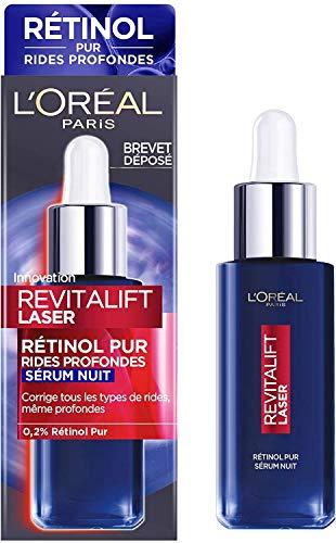 L Oréal Paris - Revitalift Laser - Sérum de Nuit au Rétinol Pur - Soin Anti-Âge Visage Spécial Rides Profondes - 30 ml