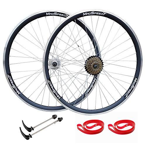 QR 700c Road Racing Bike Double Wall Wheelset Sealed Bearing Hub 7 speed...