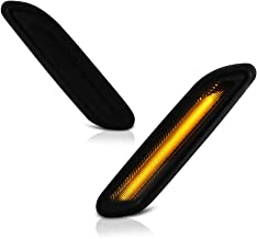 VIPMOTOZ Dark Smoked Lens Full LED Front Fender Side Marker Light Turn Signal Lamp Assembly Replacement For 2011-2016 Mini Cooper R60 R61 Countryman Paceman, Driver & Passenger Side