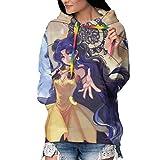 Marshall Darren Sailor Moon Luna Women Hoodies Tops Tie Dye Printed Long Sleeve Drawstring Pullover Sweatshirts with Pocket Print Cozy HoodiesLarge