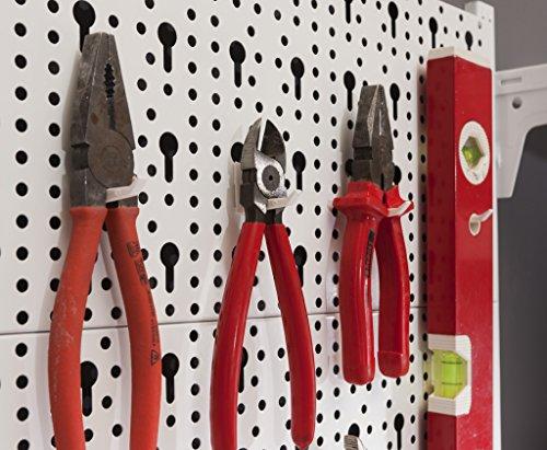 Element System Werkzeugwand aus Metall, Heimwerker-Grundset inklusive Schrauben und Dübel, Lochwand - 5