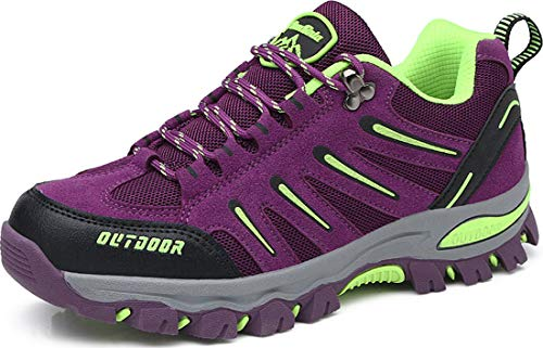 BomKinta Women's Hiking Shoes Anti-Slip Lightweight Breathable Quick-Dry Trekking Shoes for Women Purple Size 9