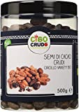CiboCrudo Semi di Cacao Biologici Crudi, Qualità Criollo – 500gr– Cacao Beans Criollo Variety Raw Organic, Fave di Cacao Bio, dalle Piantagioni del Perù, Etichette in Italiano