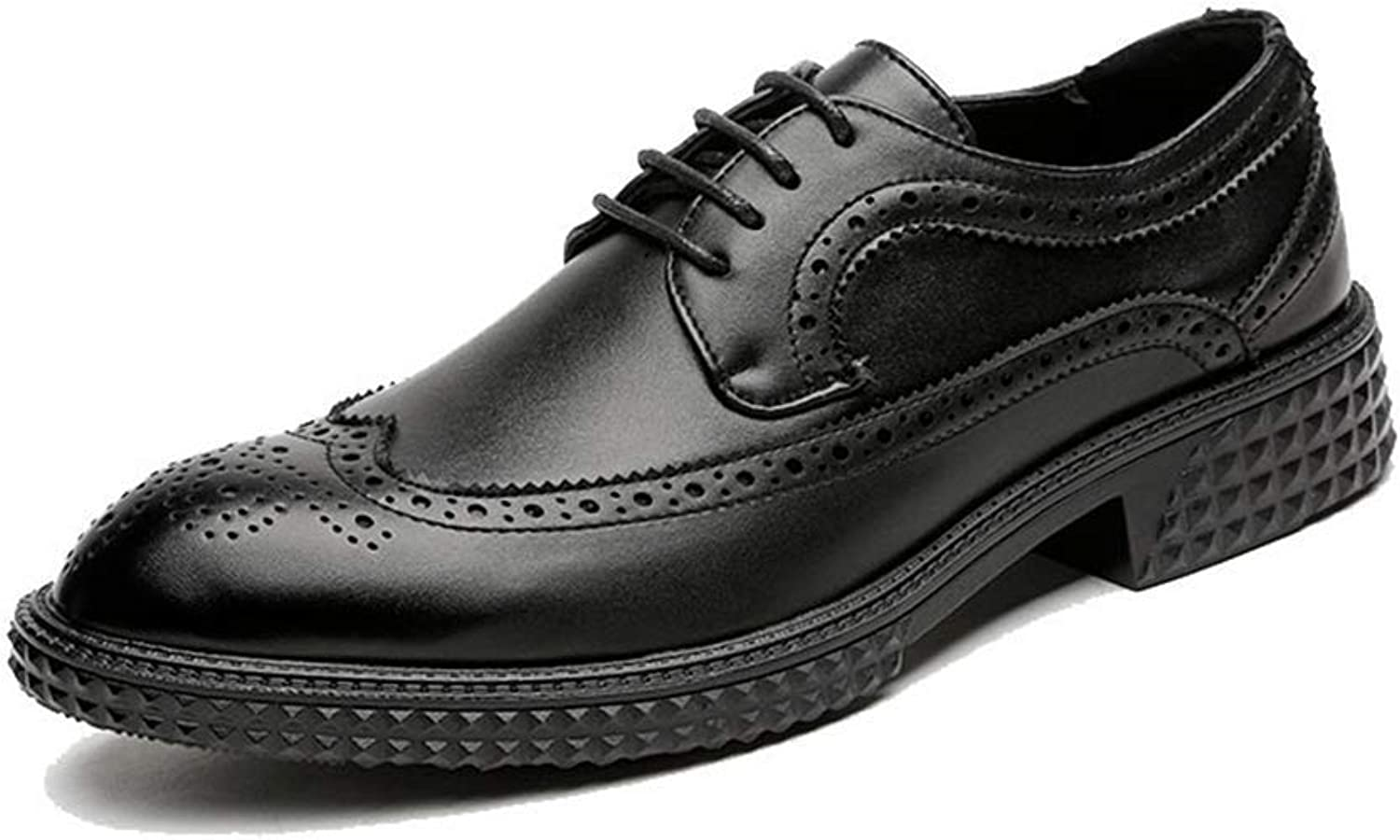ZHRUI Men Dress shoes Formal shoes for Wedding Brogue Business Office Oxfords (color   Black, Size   4.5 UK)