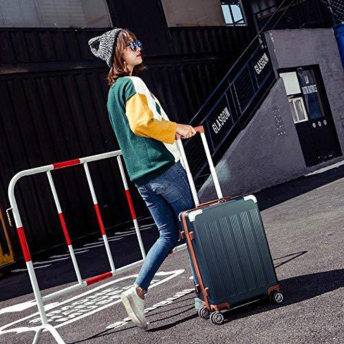 SFBBBO luggage suitcase Aluminum Trolley Luggage bag,Rolling Wheels Suitcase with Lock, Men's hardshell Box 26' BlackishGreen