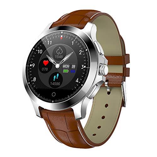 HHRen W8 Smartwatch EKG + PPG Herzfrequenzmesser Fitness Tracker,Braun
