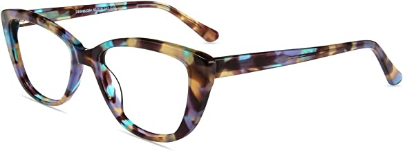 Firmoo Blue Light Blocking Computer Reading Glasses Vintage Cateye TR90 Frame for Women with Magnification