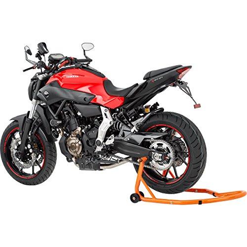 Hi-Q Tools Montageständer Motorrad Ständer Motorradheber Montageständer Motorrad hinten zum Aufbocken, breitenverstellbar, Wartungs-/Montagearbeiten, universell für Fast alle Motorräder bis 300 kg