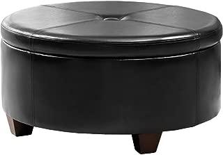 Best black round storage ottoman Reviews