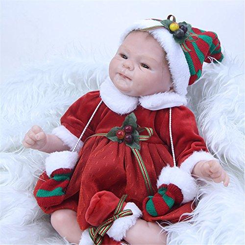 GAW Toys Alimentar bebés Reborn muñecas realistas de 17 Pulgadas de Silicona Suave paño Suave Cuerpo Nacido de realismo Niñas Ayuda a disminuir la ansiedad Autismo