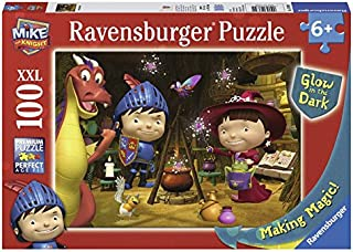 Ravensburger Mike The Knight Making Magic 100-Piece Glow-in-The-Dark Puzzle