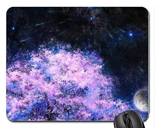 Mausemat Kunst Malerei Kirschbäume Space Meteor Dusche 25X30Cm Personalisierte Mauspads Gummi Benutzerdefinierte Desktops Rutschfeste Tastatur Tisch Bürocomputer Langlebige Bedruck