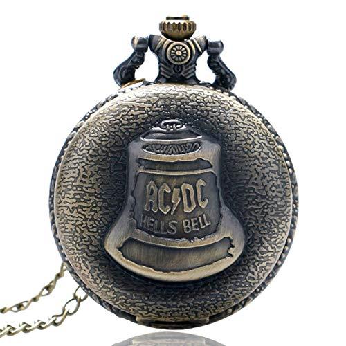 ZMKW Antike Steampunk Bronze Höllen Glockenmuster Quarz Taschenuhr Halskette Anhänger Kette Steampunk Uhr Männer Frauen Geschenk, China