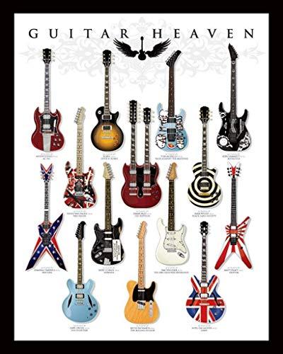 Pyramid International - Mini poster per chitarra Heaven, in plastica/vetro, multicolore, 40 x 50 x 1,3 cm