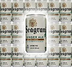 Seagram's Ginger Ale, 7.5 Fl Oz Mini Can - 18-Pack Made with real ginger for a crisp, clean refreshing ginger ale Made with real ginger and caffeine free The perfect bubbly refresher and mixer Seagram's is at the root of good times, making every mome...