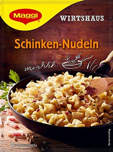 Maggi Wirtshaus Schinken-Nudeln, 12er Pack (12 x 173 g Beutel)