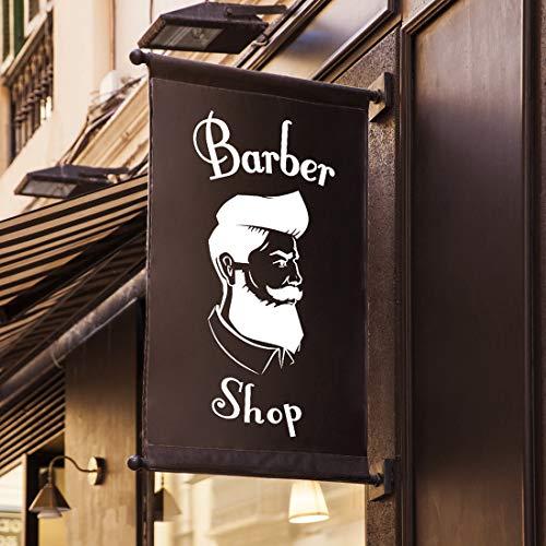 Barbería tienda signo de pared pegatina decoración ventana signos vinilo hogar pegatinas barbería decoración mural calcomanía salón de belleza autoadhesivo letras cartel ventanas estilista