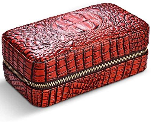 GAOYINMEI Humidor Humidor Caja de cigarros Viajes Caja de cigarros Cuero Cigar Cigarette Caja Humidificador Accesorios, (Color : B)