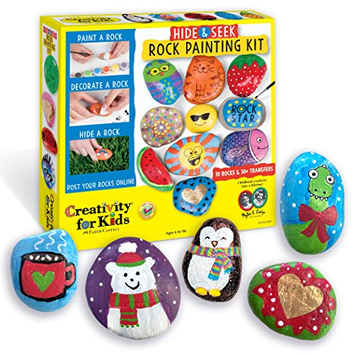 Creativity for Kids Hide & Seek Rock Painting Kit - Arts & Crafts For Kids -...
