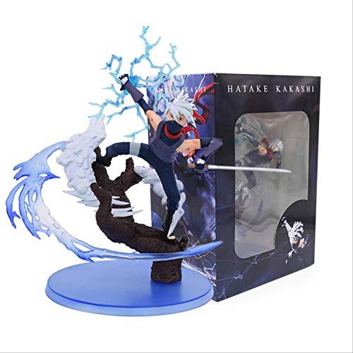 SXXYTCWL Ltong 25cm Naruto Kakashi Sasuke PVC Action Figur Anime Hot Toys Modellfiguren-Sammlung jianyou