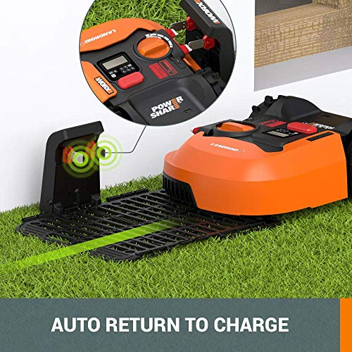 WORX WR143 Landroid M 20V PowerShare Robotic Lawn Mower with GPS Module Included