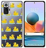 Tum&osmartphone Hülle Gel Transparent Für Xiaomi Redmi Note 10 Pro Design Muster - Ente