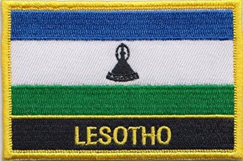 1000 Flags Lesotho Flagge, bestickt, rechteckig, zum Aufnähen oder Aufbügeln
