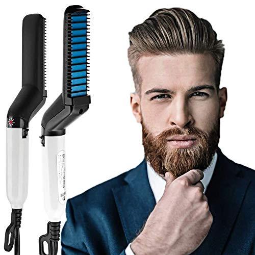 ZCFXGHH Cepillo para Alisar la Barba para Hombres, Peine electrónico para Alisar el Cabello y la Barba