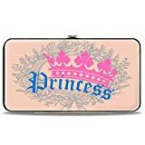Buckle-Down Hinge Wallet - Crown Princess Oval Baby Pink/Baby Blue
