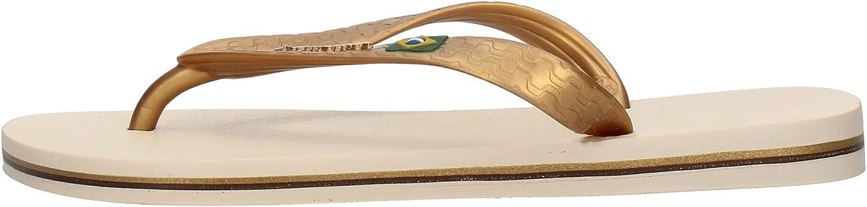 Ipanema CLAS Brasil Ii Flip Flops Women Beige/Gold Flip Flops Shoes