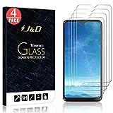 J&D Compatible para Motorola Moto G8 Play/G8 Plus/One Macro/LG G8X ThinQ/V50S ThinQ/UMIDIGI A5 Pro Protector de Pantalla (4-Pack), NO Cobertura Completa Cristal Templado Vidrio Protector de Pantalla