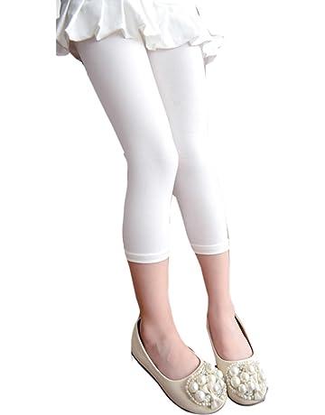 becceb707cef9 Famuka レギンス キッズ 女の子 ガールズ 7分丈 スパッツ 彩色 レギパン 全9色多様選択
