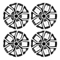 Pilot WH142-16S-B 16 Inch Super Sport Black and Silver Universal Hubcap Wheel Covers for Cars | Set of 4 | Fits Toyota Volkswagen VW Chevy Chevrolet Honda Mazda Dodge Ford and Others