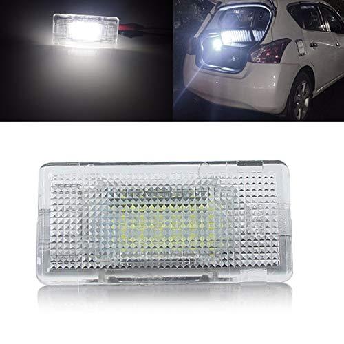 YUGUIYUN Auto LED Kofferraumbeleuchtung Fußraumbeleuchtung Innenraumbeleuchtung Bright Weiß Lampen Leuchtmittel für E36 E38 E39 E46 E60 E60LCI E61 E65 E66 E82 (1pcs)