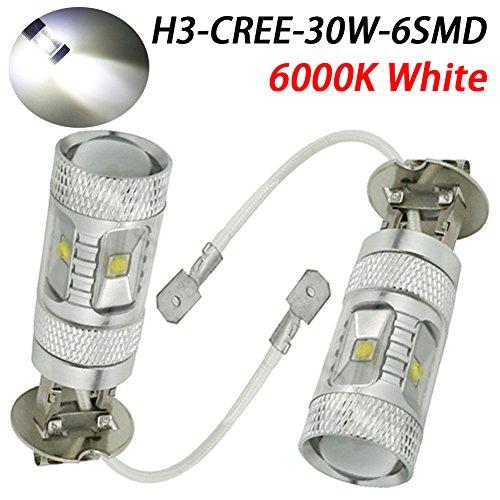 Taben 6500 K Blanc 9005 HB3 80 W Super Lumineux LED Blanc Fog Tail Turn DRL Tête de voiture ampoule lampe (lot de 2)