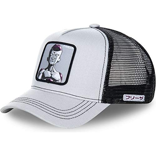 Nueva Gorra Snapback Gorra de béisbol de algodón Hombres Mujeres Hip Hop Dad Hat Trucker Mesh Hat-Frieza Gray