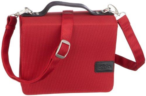 SchönfelderSkin, (Nylon-Leder) rubin-rot, mit Aluminium-Buchstütze