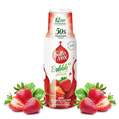Frutta Max Getränkesirup Frucht-sirup Konzentrat | Sorten zur Wahl | weniger Zucker | mit 50% Fruchtanteil | für Soda Maschine geeignet 500ml (Erdbeere)