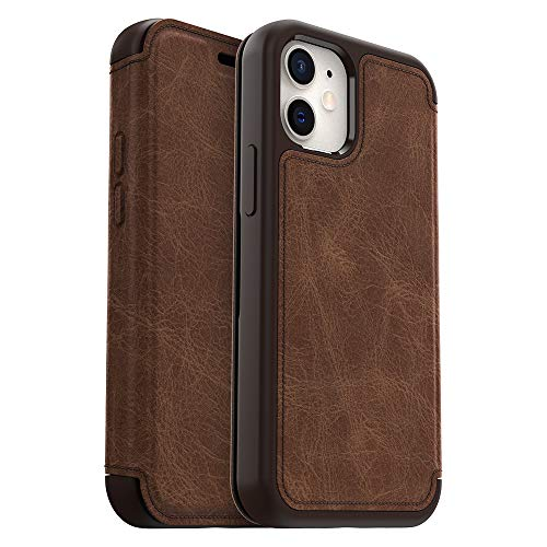 OtterBox Strada Series Case for iPhone 12 Mini - Espresso (Dark Brown/Worn Brown Leather)