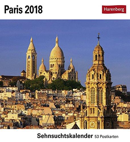 Paris - Kalender 2018: Sehnsuchtskalender, 53 Postkarten