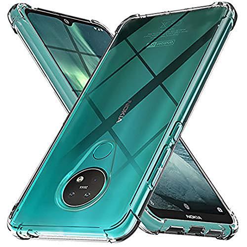Ferilinso Cover per Nokia 7.2 / Nokia 6.2, [Transparente TPU Custodia][Compatibile con Pellicola Protettiva Vetro Temperato] [10X Anti-Yellowing] [Anti-Antiurto] [Anti-Scratch] Protettiva in Silicone
