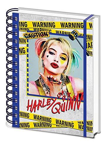 Bird of Prey Harley Quinn Warning A5 Wiro Notebook