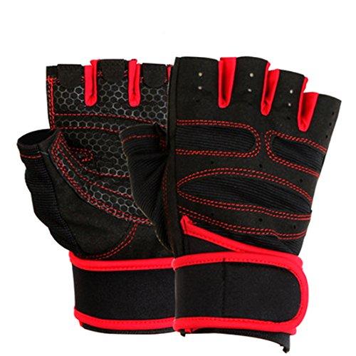 Luwu-Store Sécurité des Sports Le Support Bracelet Gants Spirale enroulé Chaud pour Motorcycle-Rouge L