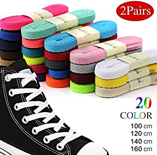 Pairs Thick Flat Shoelaces Wide Shoes lace Strings Unisex Shoelace for Boot and Shoes