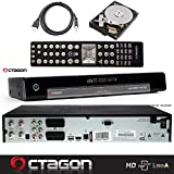 OCTAGON SF1018 HD Alliance - DVB-S2 H.264 Twin Tuner, PVR SAT Festplattenreceiver mit 1 TB HDD, BlindScan, Timeshift, Media Player, USB, LAN, inklusive gratis HDMI-Kabel (1 TB)