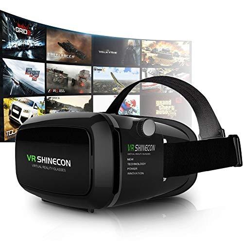 3D VR Gafas Realidad Virtual Universal Ajustable Juegos DE VÍDEO Compatible con IP 7/6S/6 PLUS/6/5S/5 C/5 Samsung Galaxy S5/S6/NOTE4/NOTE5 TELÉFONOS Inteligentes VR SHINECON